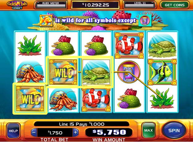 Gold fish slots play with 500 bonus 60 free spins for Gold fish casino slot